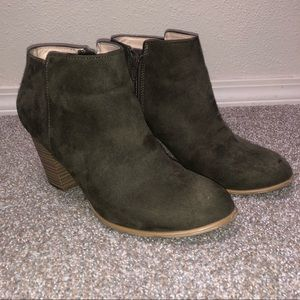 Hunter Green Ankle Booties